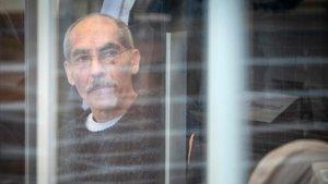 Raslan, ayer, al llegar a la sala donde se celebra el juicio en la ciudad alemana de Koblenz.