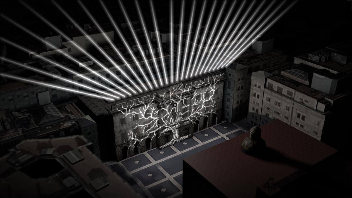 Recreación del montaje Labre de la memòria, que se desarrollará del 16 al 18 de marzo en recuerdo de los bombardeos a Barcelona de 1938.