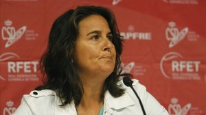 Conchita Martínez, en un acto.