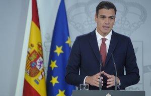 El presidente del Gobierno, Pedro Sánchez, en rueda de prensa sobre la decisión del Tribunal Supremo acerca del impuesto de las hipotecas.