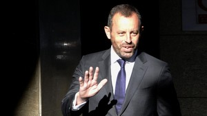 Rosell, en la Audiencia Nacional por el caso Neymar en julio del 2014.