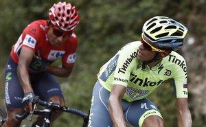 Contador y Quintana, camino de Formigal, en la Vuelta del 2016.