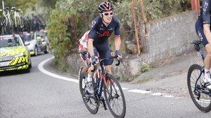 Geraint Thomas, durante la tercera etapa del Giro.