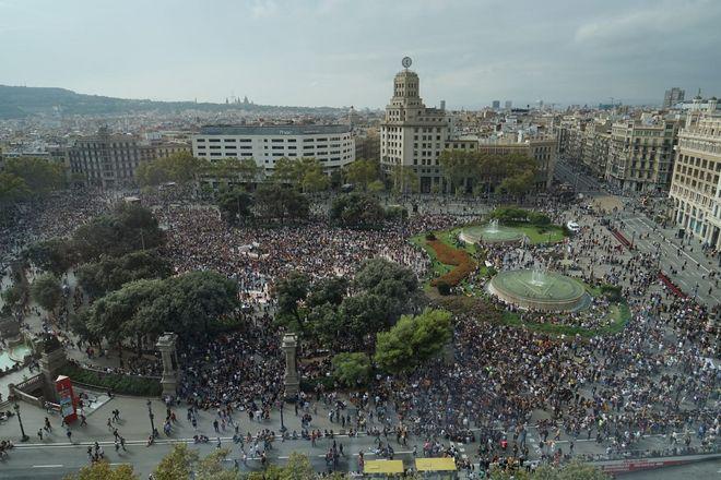 Barcelona bloqueada por la sentencia del 'procés'