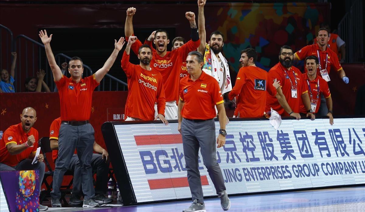 Sergio Scariolo, en un momento del partido por el bronce del Eurobasket