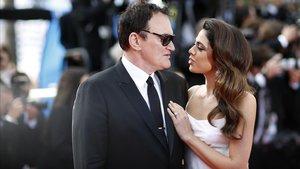 Tarantino y su mujer, Daniella Pick, en el Festival de Cannes, en mayo del 2019.