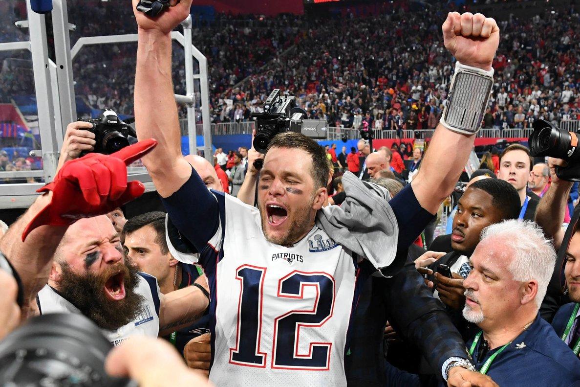 Tom Brady, mariscal de Los Patriots.