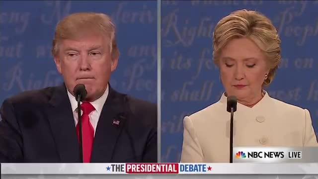 Momento en que Trump se niega a decir si aceptará una derrota electoral.