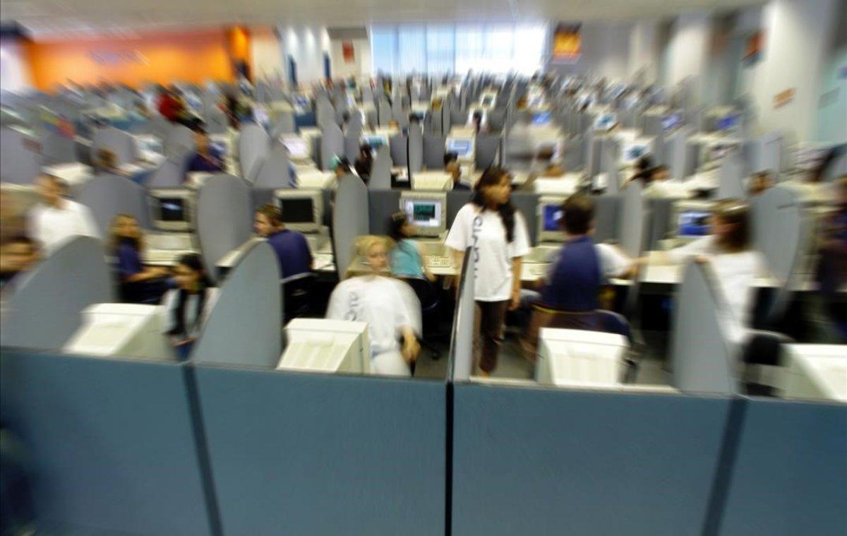 Una imagen de un 'call center'.