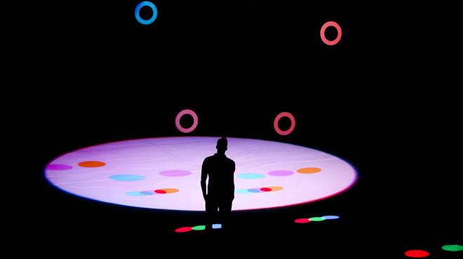 La instalción cinética RGB/CMY Kinetic que luce esta edición del Sónar.