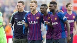 Vermaelen, Rakitic, Dembélé y Umtiti: todos llegaron hasta el último día del Mundialy tres de ellos se han lesionado.