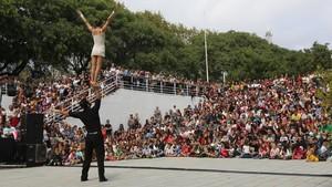 Actuación en el parque de la Trinitat, en la Mercèdel 2016.