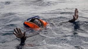 Salvamento en aguas del Mediterráneo, en noviembre del 2017.
