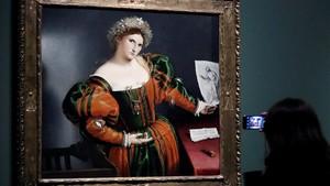 Una de las pinturas de Lorenzo Lotto deestaprimera gran exposicion monográfica del artista del Cinquecento.