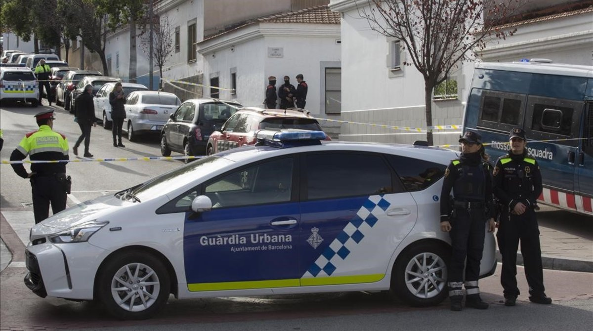Un coche patrulla de la Guàrdia Urbana.