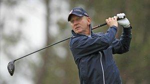 Jeremy Kyle, presentador del show, en un torneo Pro-Am de golf.