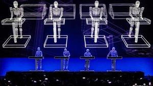 Actuación de Kraftwerk en el Festival Jardins dePedralbes.