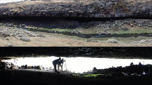 Los arqueólogos en la zona de Etiopía donde se localizó el asentamiento.