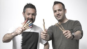 Moisés Torregrosa y Jorge Lizondo, fundadores de Naturbrush, empresa que produce cepillos de dientes biodegradables.