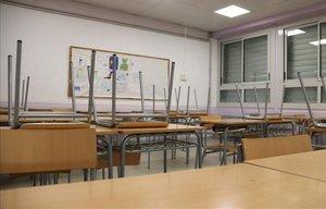 Una clase del instituto Pere Vives de Igualada.