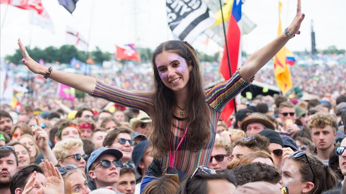 Foto de archivo de la edición del Festival de Glastonbury del 2016.