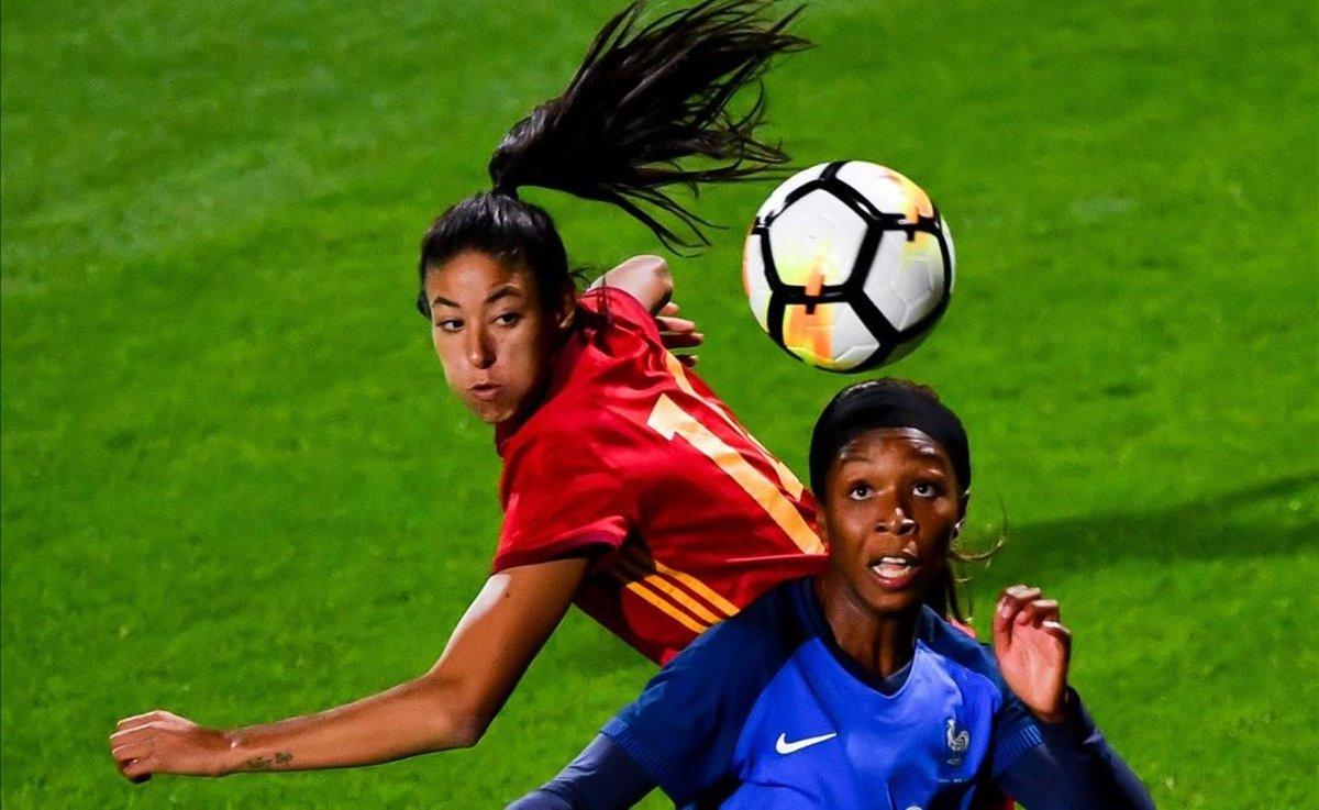 Silvia Meseguer, en un partido España-Francia.