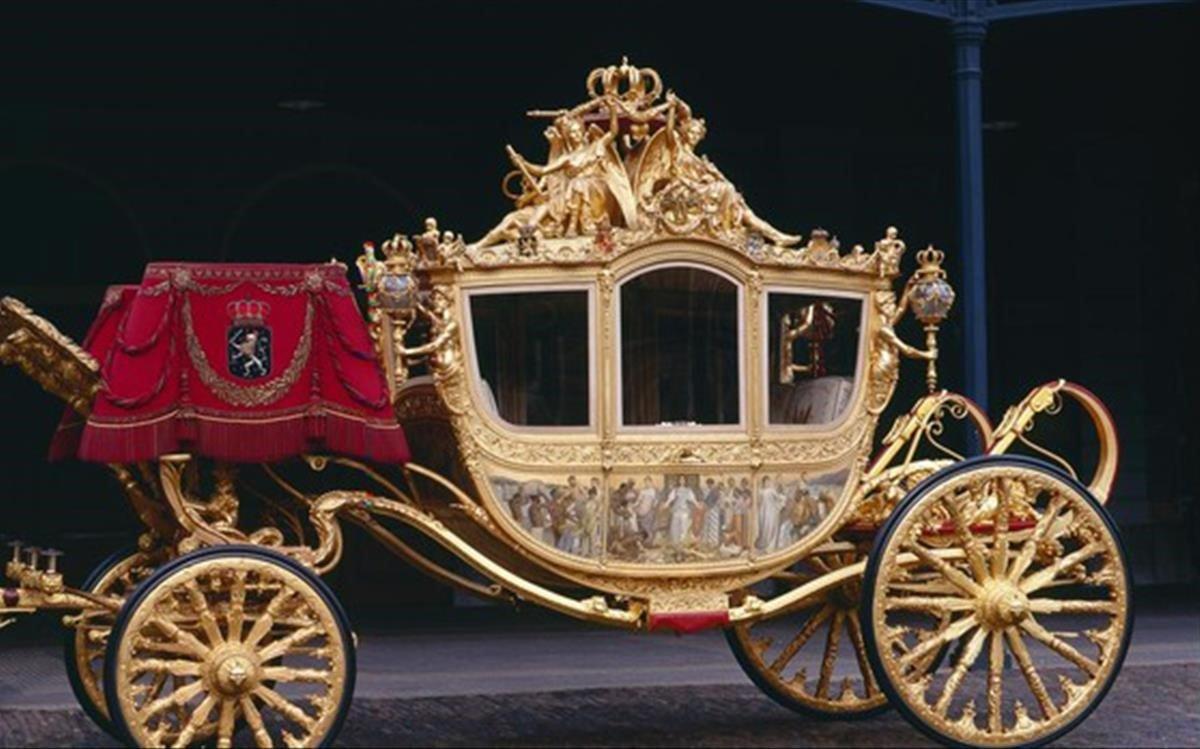 La carroza real holandesa 'Gouden Koets'.