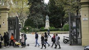 Entrada del colegio de La Salle Bonanova de Barcelona.