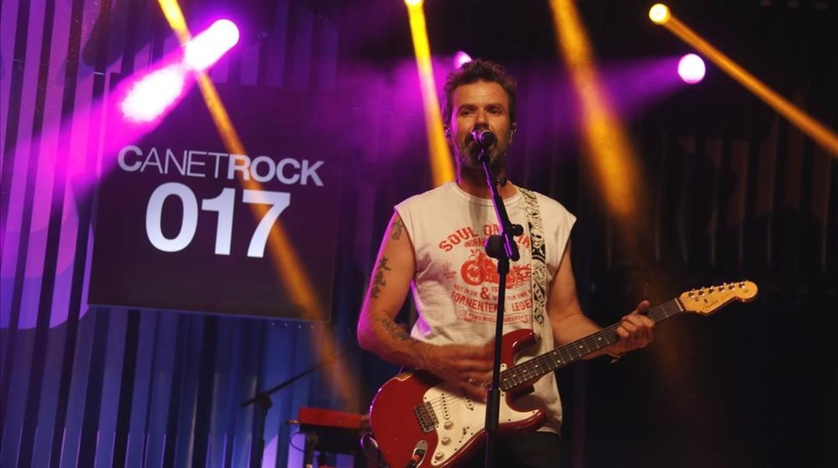 Pau Donés, durante la actuación de Jarabe de Palo en el Canet Rock.