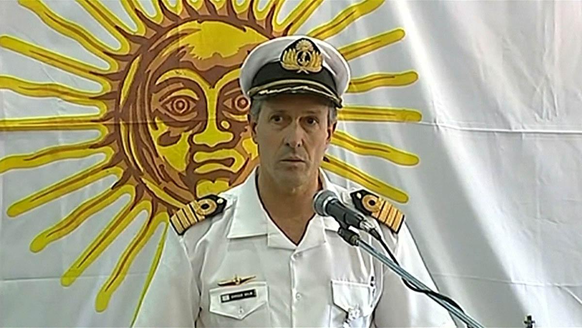 El submarino desaparecido sufrió una explosión según la Armada Argentina.