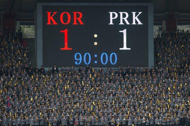 Las dos Coreas empatan en un histórico partido 'fantasma'