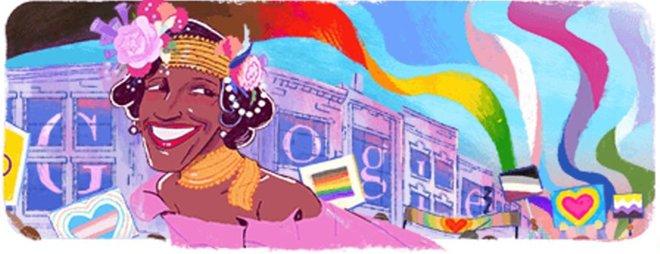 Doodle dedicado a Marsha P. Johnson
