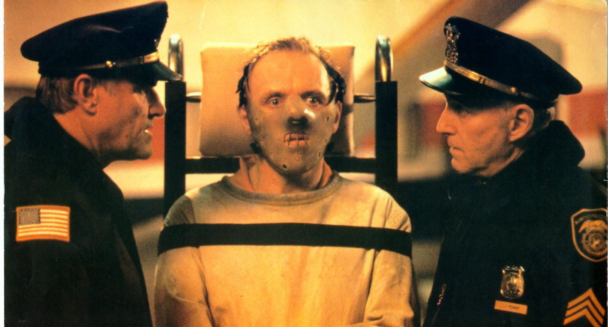 Anthony Hopkins, en una escena de 'El silencio de los corderos'.