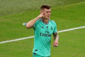 El centrocampista alemán Toni Kroos durante un partido con el Real Madrid.
