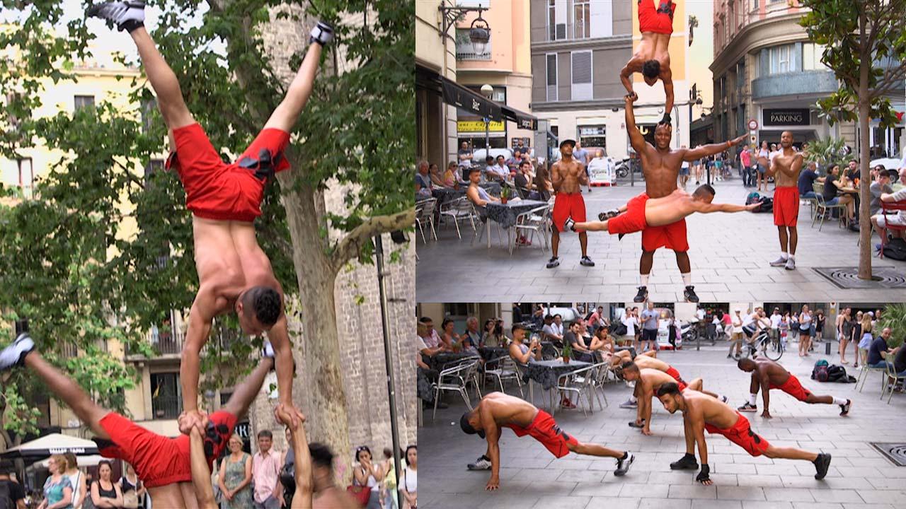 Acrobat Barcelona hacen las piruetas más locas para ganarse la vida, en Ramadán.