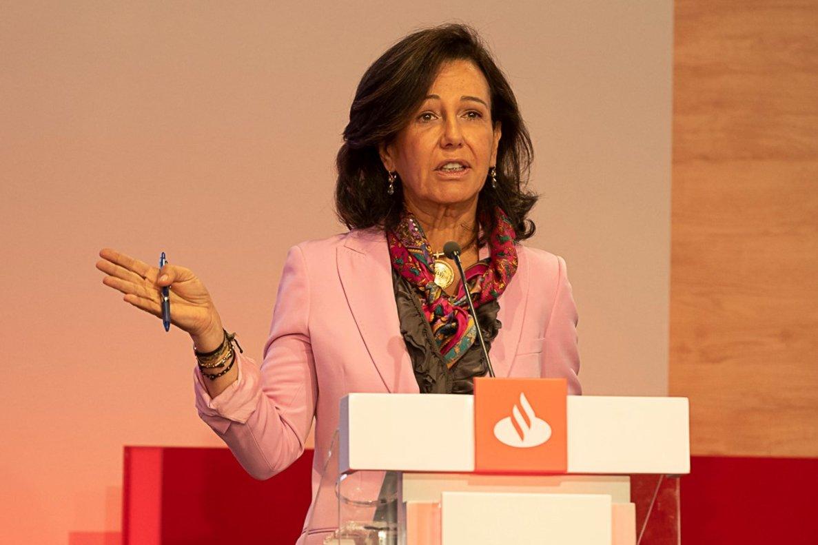 Ana Botín en el 'Investor Day' celebrado en Londres hace unos días.