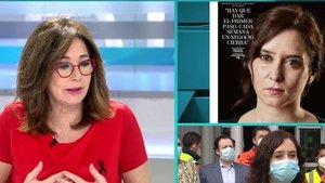 """Ana Rosa opina de las comentadas fotos de Isabel Díaz Ayuso: """"A mí no me han gustado"""""""