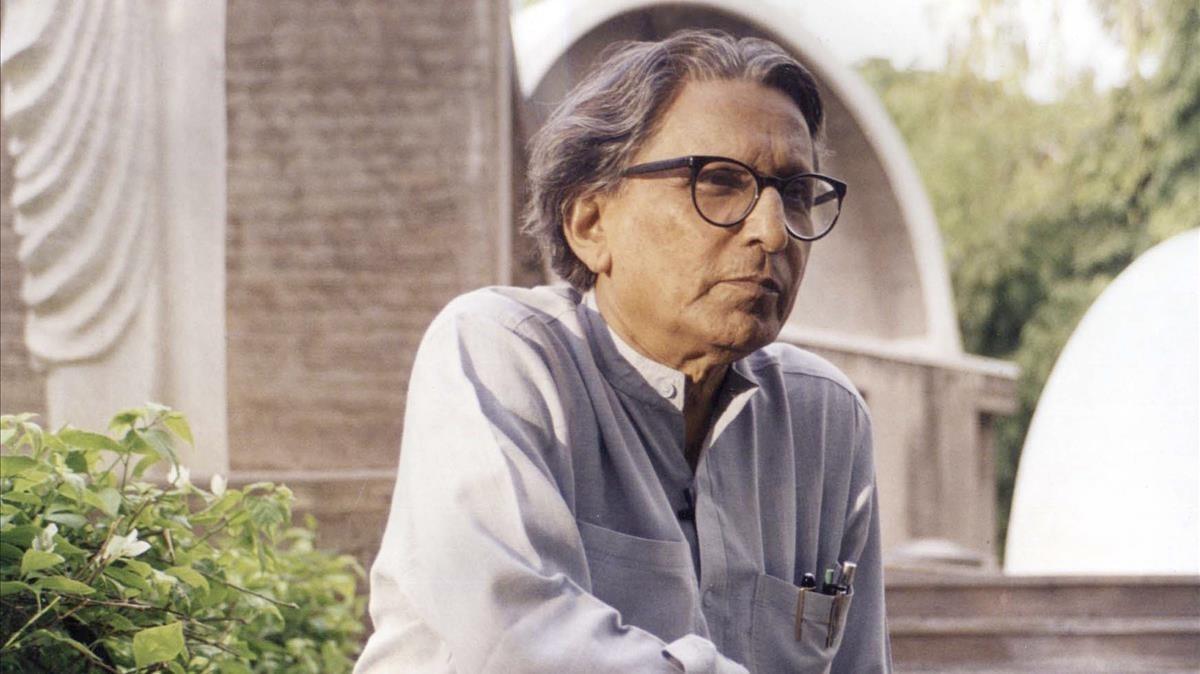 El arquitecto indio Balkrishna Doshi