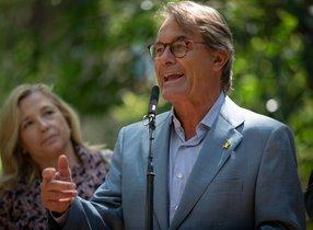 Artur Mas, junto Joana Ortega, el pasado agosto.