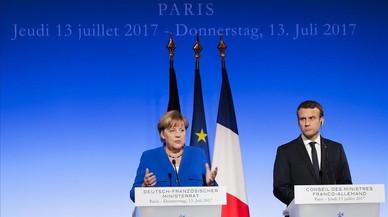 Merkel y Macron reimpulsan el eje francoalemán