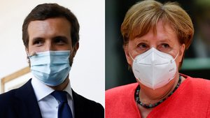 Casado, davant el mirall de Merkel