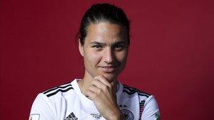 Dzsenifer Marozsan, estrella de la selección de Alemania en el Mundial femenino.