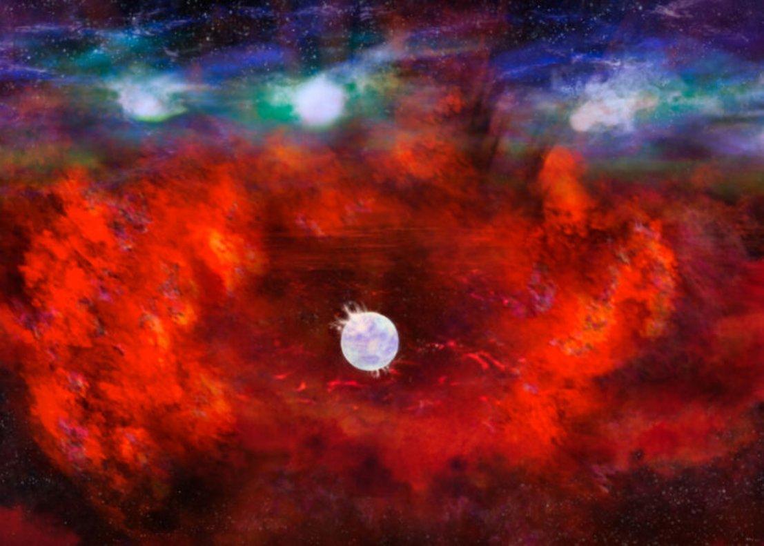 Descubren una estrella de neutrones en el interior de la supernova más cercana a la Tierra