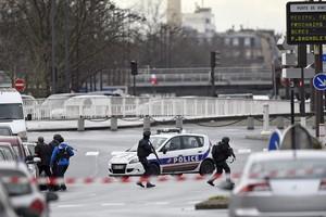 Despliegue policial en la zona de Porte de Vincennes.
