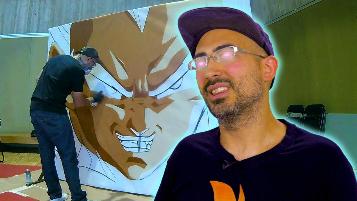 Sergio Jiménez plasma fotogramas de la serie Dragon Ball.