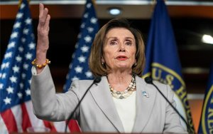 Nancy Pelosi, líder demócrata de la Cámara de Representantes de los EEUU.