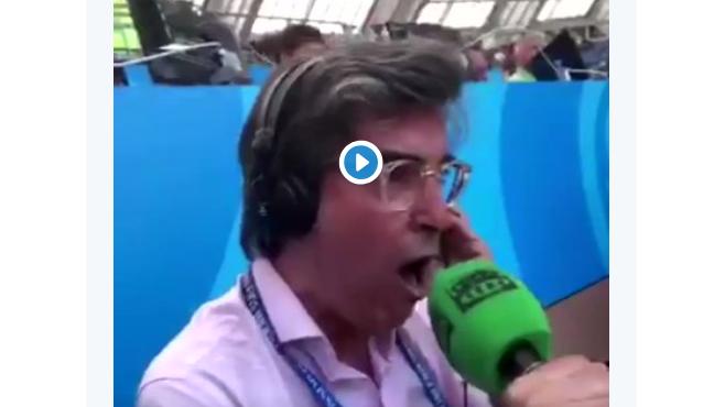 Emotiva narración del locutor de Onda Cero Alejandro Romero del gol de México.