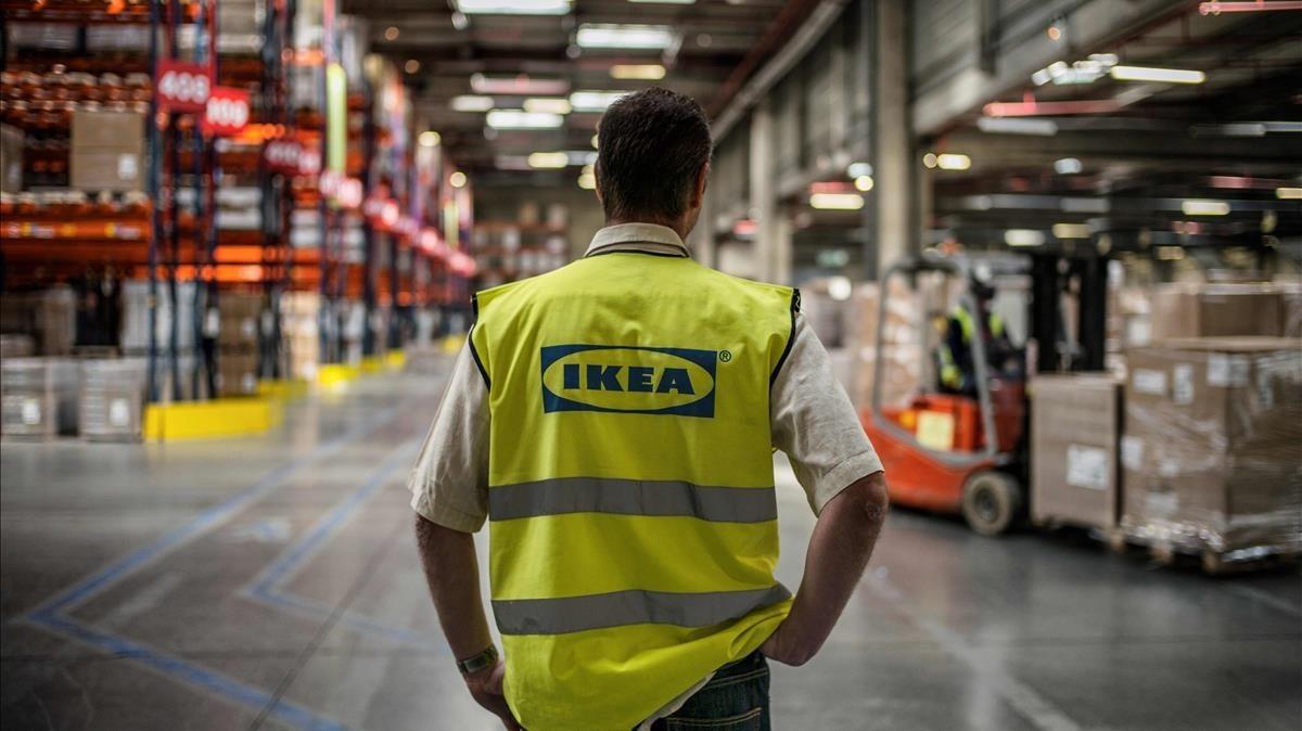 Almacén de Ikea enSaint-Quentin-Fallavier, Francia.