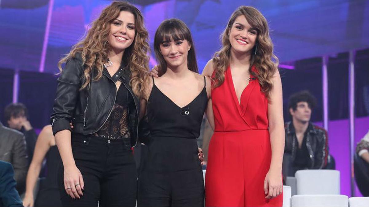 Miriam, Aitana y Amaia, las tres finalistas de OT.