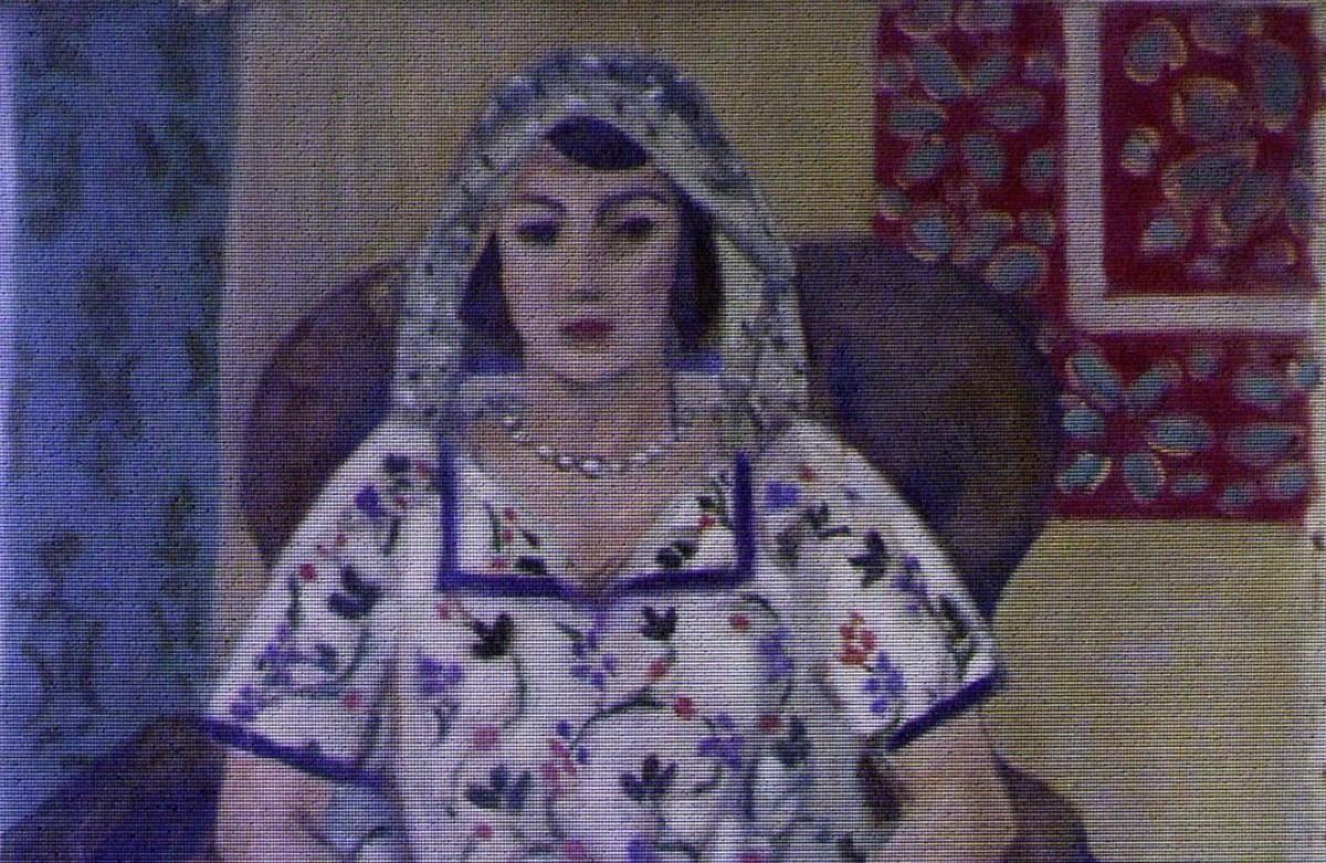 Fragmenteo de una pintura de Matisse hallada entre las numerosas obras de arte que Cornelius Gurlitt guardaba en su casa.